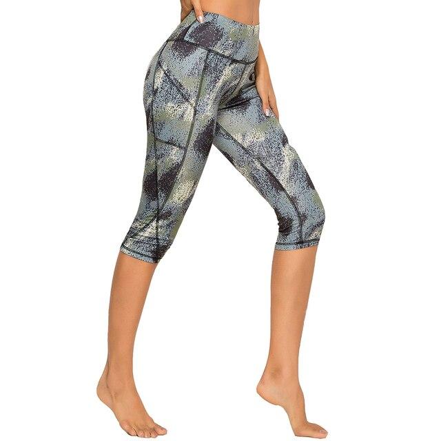 3/4 Yoga Pants women Calf-length Pants Capri Pant Sport leggings Women Fitness Yoga Gym High Waist Leggins Black Drop Shipping 4