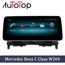 Autotop android rádio do carro gps para mercedes benz c classe w204 s204 2008 2009 2010 ntg 4.0 navegação gps do carro jogador multimídia