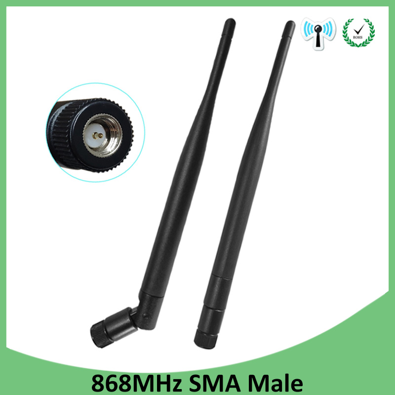 5pcs <font><b>868MHz</b></font> <font><b>915MHz</b></font> <font><b>Antenna</b></font> 5dbi SMA Male Connector GSM 915 MHz 868 MHz antena outdoor signal repeater antenne waterproof Lorawan image