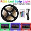 빛 Led 스트립 RGB 빛 Led 램프 테이프 RGBW 5V USB TV 백라이트 LED 스트립 빛 흰색 네온 리본 RGB 밴드 스트립 0.5 1 2 3 4 5m