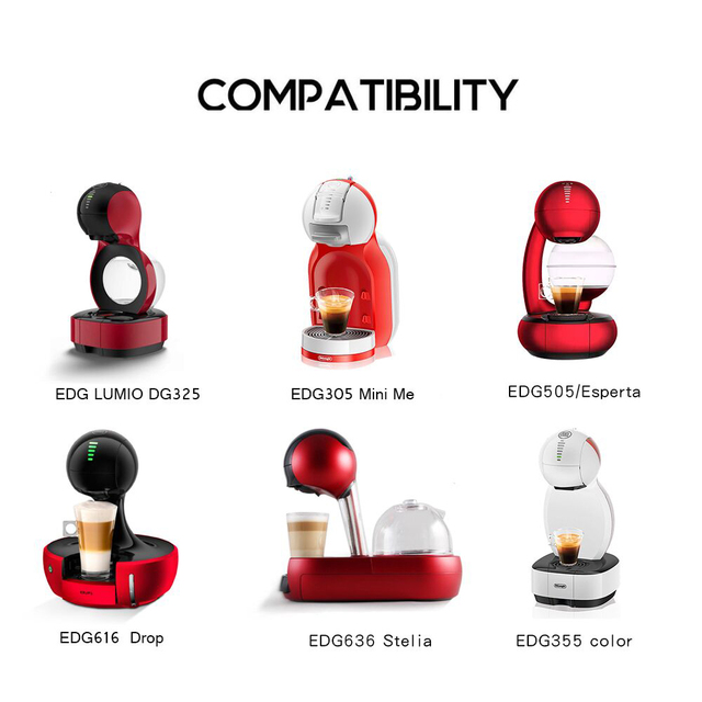 For Nescafe Dolce Gusto Lumio Reusable Coffee Capsule Refillable Filter Stainless Steel Cup Crema Maker kapsu ki do kawy