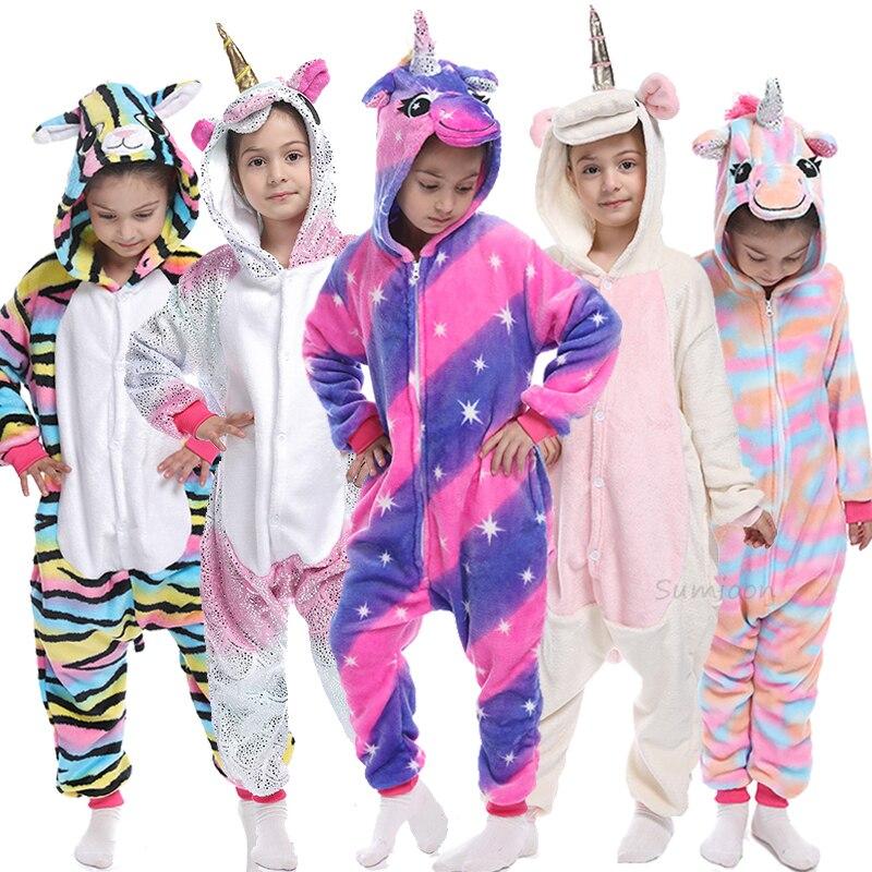 Kigurumi Pajamas For Children Girls Unicorn Anime Panda Onesie Baby Costume  Boys Sleepwear Jumpsuit