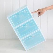 Пластиковая Складная коробка для обуви прозрачная коробка для обуви Органайзер для ящика Бытовая коробка для обуви своими руками разделитель ящика для домашнего хранения