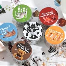 Adorable Animals Plant Transparent Tape Journal Handmade Decorative Adhesive Tape Label Stickers