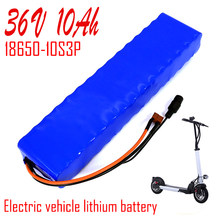 36V 10Ah 10S3P 18650 lithium battery pack 600Watt 20ABMS T plug For xiaomi mijia m365 pro electric bicycle scoot