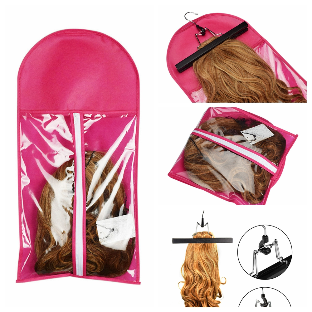 1pc Portable Hair Extensions Package Suit Case Wig Storage Bag Clothing Holder For Hair Weft Extensions Clothing Items Storage