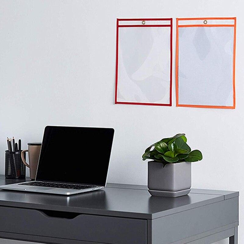 25Pcs Dry Erase File Folder 8.5X 11 Inch Document Bag Perfect Classroom Organization Reusable Erasable File Display Book