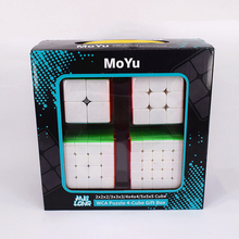 MoYu 2x2x2 3x3x3 4x4x4 5x5x5 cube magique Cadeau Boîte meilong 2x2 3x3 4x4 5x5 vitesse cube puzzle cubo magico