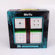 Moyu 2x2x2 3x3x3, 4x4x4 5x5x5 meilong caixa de presente 2x2 3x3 4x4 5x5 cubo mágico quebra-cabeça cubo magico