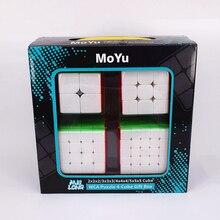 Moyu 2x2x2 3x3x3, 4x4x4 5x5x5 meilong caixa de presente 2x2 3x3 4x4 5x5 cubo mágico quebra cabeça cubo magico