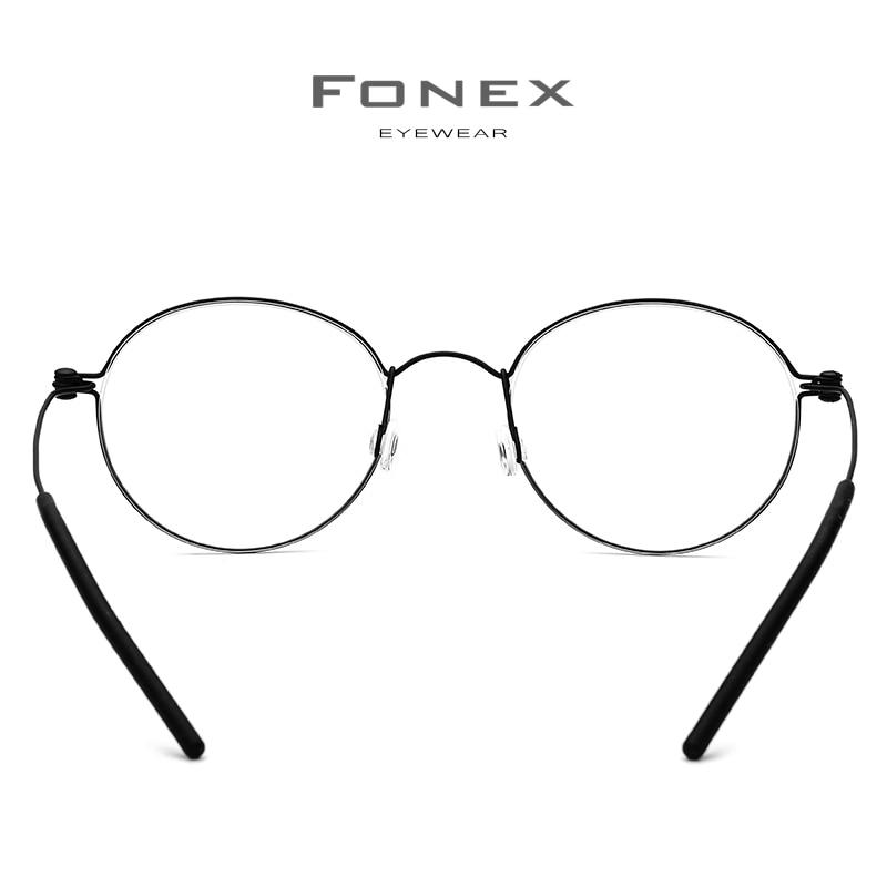 Image 4 - FONEX B Titanium Glasses Frame Women Prescription Eyeglasses Men 2019 New Korean Myopia Optical Frames Screwless Eyewear 7510-in Women's Eyewear Frames from Apparel Accessories