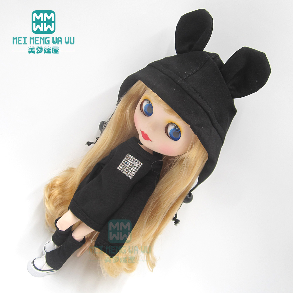 1pcs Blyth Doll Clothes Fashion Sweatshirts, Casual Hats, Socks, Sports Shoes For Blyth Azone OB23 OB24 1/6 Doll Accessories