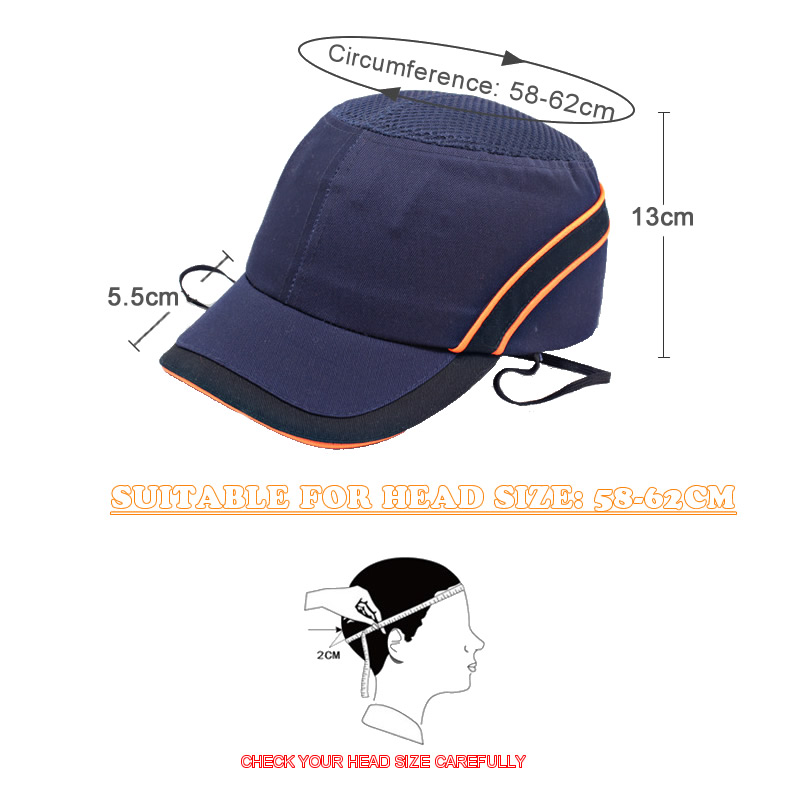Image 2 - New Bump Safe Cap Baseball Hat Style Protective Hi Viz Anti collision Hard Hat Helmet Head Protection Work Safety RepairingSafety Helmet   -
