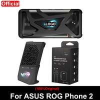 Original Same paragraph For ASUS ROG phone 2 case ZS660KL Official Phone cover + Cooling Fan Holder + 30W Fast Charging cable