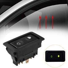 Универсальный блок управления окном питания, кнопка включения/выключения автомобиля 6Pin 12V 24V Вкл/Выкл SPST рокер Встроенный зеленый свет 88