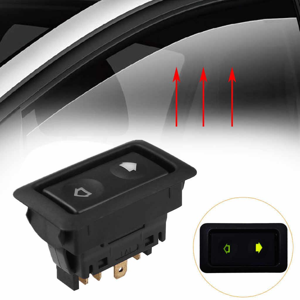 Universal Power Window Schakelaar Knop Set Auto 6Pin 12V 24V ON/OFF SPST Rocker Bouwen -in Groen licht 88