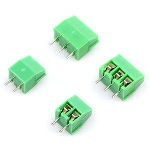 10pcs MG/KF350-2P 3P Green Pin Screw Terminal Block Connector KF350 3.5mm Pitch amphenol connector 250V/10A(China)