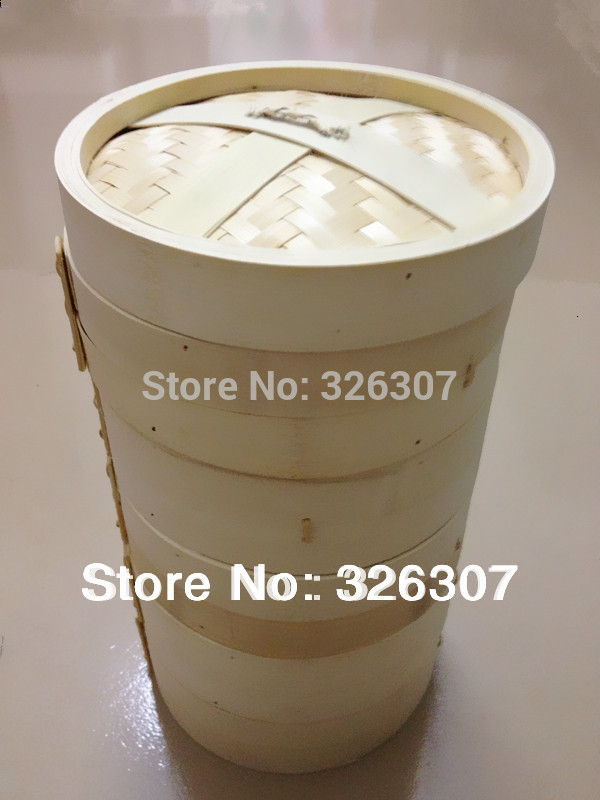 13.5cm 14.5cm 16.5cm 18cm 20cm 22cm 26cm 30cm 33cm 36cm 40cm Bamboo Steamer Small Cage Bag Bamboo Cage Steamed Stuffed Bun