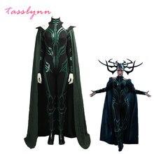 Déguisement d'halloween pour femmes, déguisement de super-héros, film Thor 3, la déesse de la mort, Hela Cosplay, pour adultes