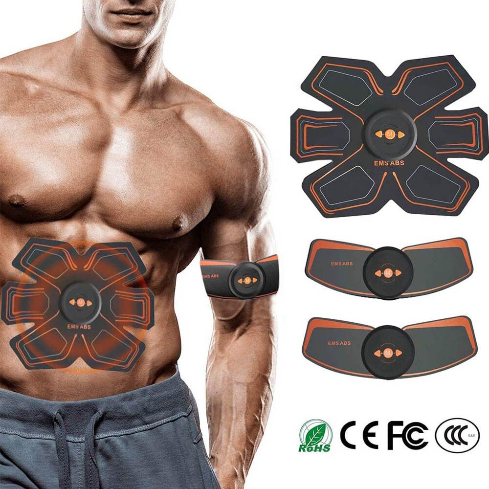 Elektrikli karın kas stimülatörü EMS Abs kalça eğitmen ev jimnastik salonu USB şarj edilebilir spor masajı vücut zayıflama masajı