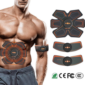 Electric Abdominal Muscle Stimulator EMS Abs Hip Trainer Home Gym with USB Rechargeable Fitness Massager Body Slimming Massager abdominal muscle stimulator ems belt smart fitness massage abs trainer electric body slimming massager home gym