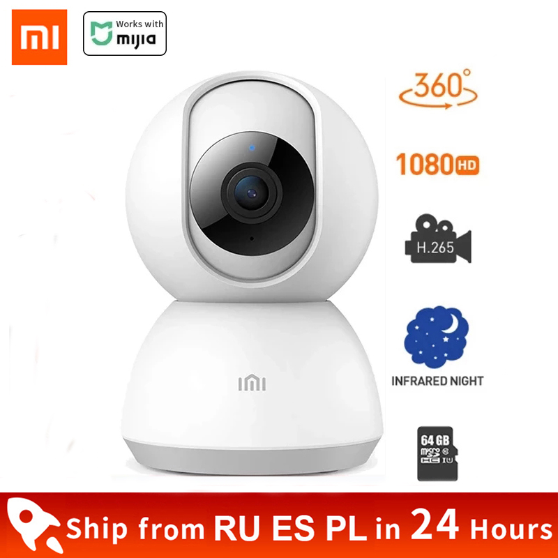 Xiaomi Mijia Smart Camera Wireless 1080P HD WiFi Night Vision 360 Angle Video Action IP Cam Baby Security Monitor For Mi Home