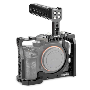 Image 5 - MAGICRIG DSLR Cage Fotocamera con Maniglia Superiore Per Sony A7RIII /A7RII /A7SII /A7M3 /A7II /A7III macchina fotografica A Sgancio Rapido Kit di Estensione