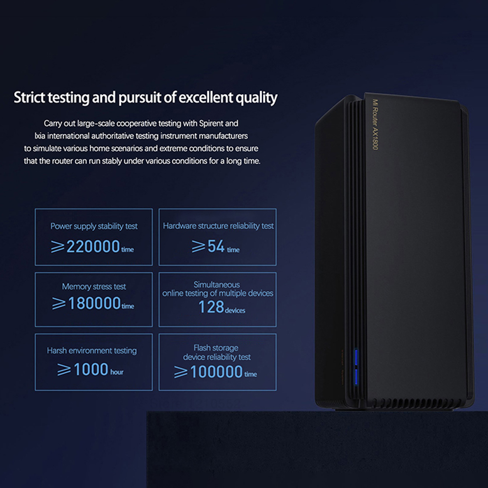 New Xiaomi AX1800 Wireless Router Mesh WIFI VPN Dual-Frequency 256MB 2.4G 5G Full Gigabit OFDMA Repeater Signal Amplifier PPPoE 4