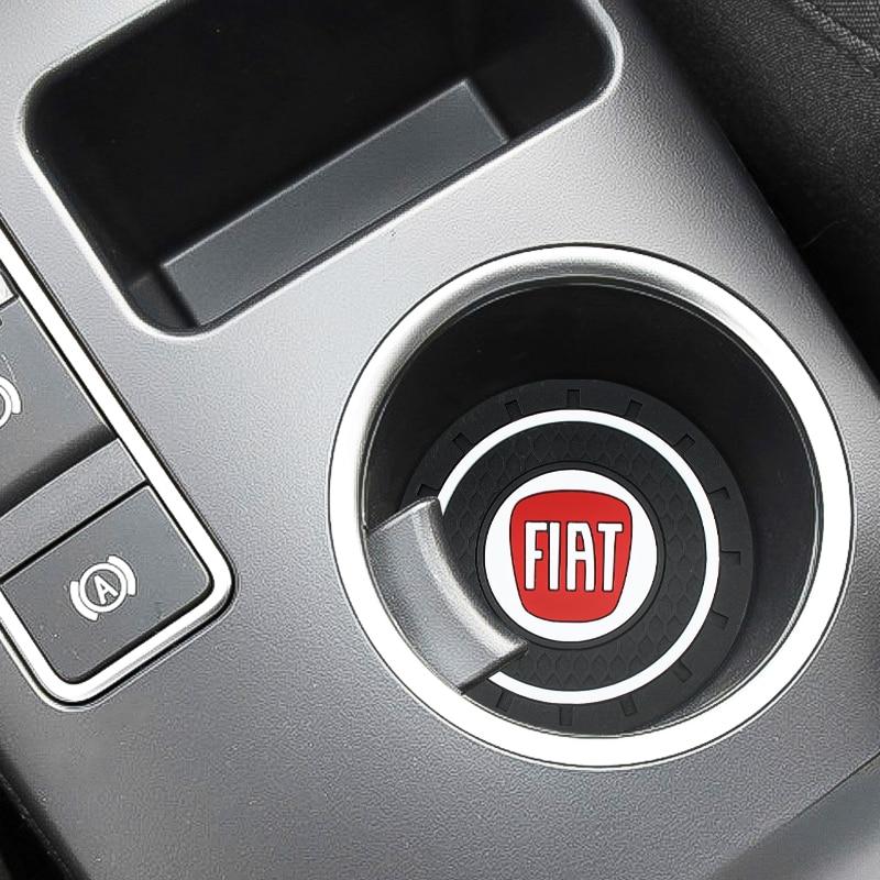 Funda antideslizante para coche de PVC con diseño de coche, funda para Fiat 500 500x ducato tipo panda bravo dobllo stilo freemont Accesorios