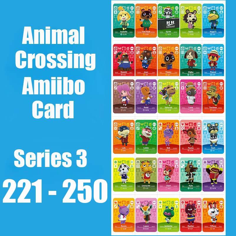 Series 3 (221 To 250) Animal Crossing Card Amiibo Card Work For Switch NS 3DS Games  Animal Crossing Amiibo Cards Invite Animal