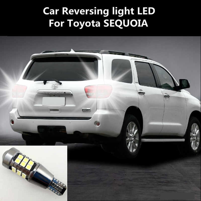 Auto Omkeren Led Voor Toyota Sequoia Retraite Assist Lamp Licht Refit T15 12W 6000K Sequoia Koplamp Modificatie
