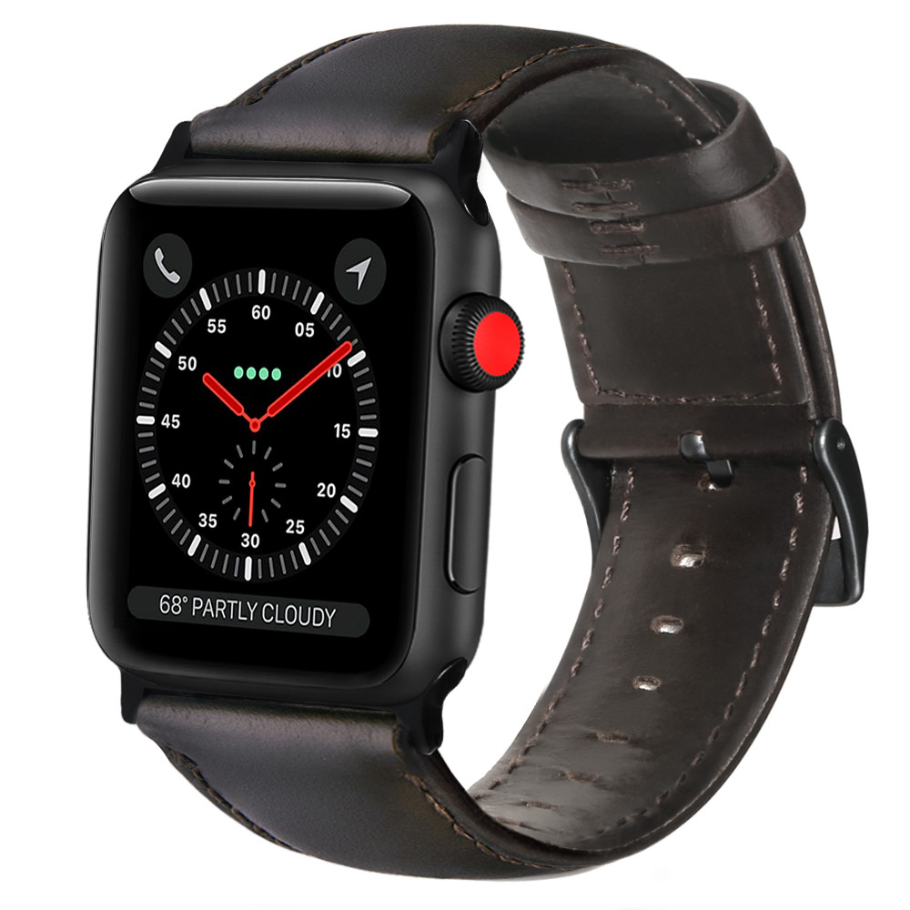 Oil Wax Leather Bracelet For Apple Watch Band 42mm 38mm 44mm 40mm Series 5 4 3 2 Watch Strap For IWatch Watchband