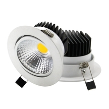 GD 5W 7W COB LED Downlight Dimmable 12W 20WRecessed 220V Ebedded Ceiling Spot Lighting Anle Adjustable Spot+Driver