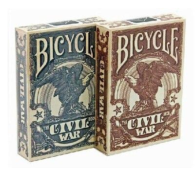 Велосипед Civil War Union Confederate коричневый/синий колода игральных карт Покер Размер коллекционные карты магические трюки реквизит для Migician|Игральные карты|   | АлиЭкспресс