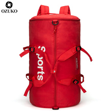 OZUKO Large Capacity Travel Bags Multifunction Sports Gym Hand Bag Male Luggage Travel Backpack For Women Fitness Duffle Mochila