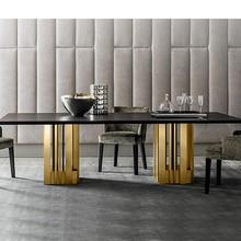 Dining-Room-Set Home-Furniture Marble Muebles Modern Minimalist And Comedor Mesa-De-Jantar