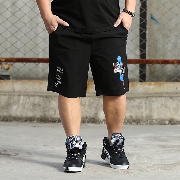 Summer New Style Men's Plus-sized Casual Shorts Lard-bucket Men's Trend Straight-Leg Shorts
