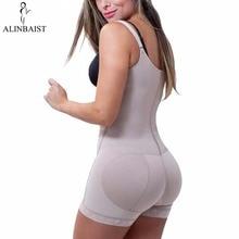 Donne Sottile Shapewear Slip Butt Firm Tummy Controllo Zip Frontale Busto Aperto Tuta di Lattice Full Body Shaper Che Dimagrisce Coscia Più formato