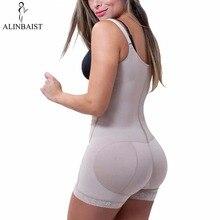 נשים Slim Shapewear להחליק התחת משרד בטן בקרת Zip קדמי פתוח חזה לטקס בגד גוף מלא גוף Shaper הרזיה ירך בתוספת גודל