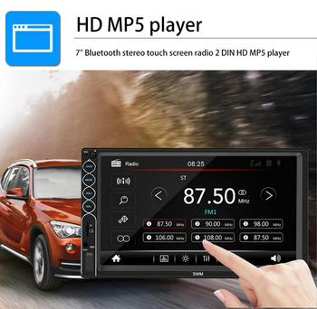 7 Inch Bluetooth Stereo Radio Touch Screen Player 2 Din HD Mp5 Player Supports For IOS/ Android For Phone Mirror Connection image