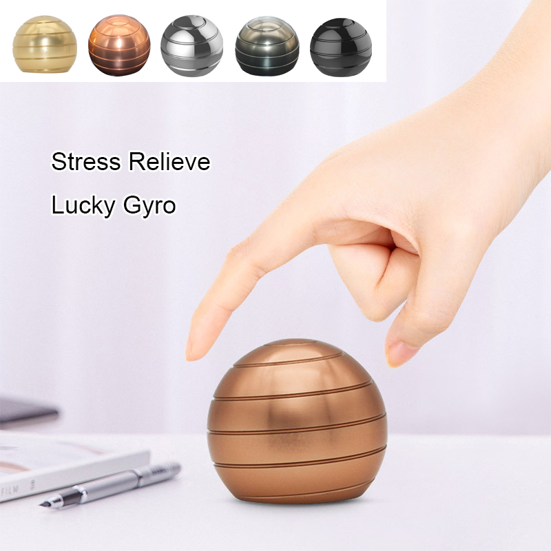 2019 Newest Finger Stress Relief Toys Adult Stress Relief Toy Aluminum Alloy Decompression Hypnosis Rotary Gyro
