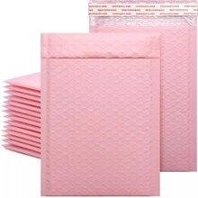 10/50 Pièces Rose Poly Enveloppes Matelassées Bulles Doublé Wrap Polymailer Sacs pour L'emballage D'expédition Maile de Joint D'individu