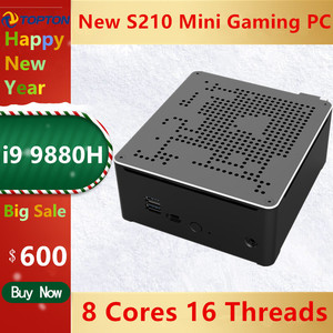 Image 5 - Topton 2 LANS Mini Gaming PC Intel Core i9 9880H 8 Cores 16 Threads Desktop Computer 2*DDR4 2*M.2 NVMe Win10 Pro 4K HTPC HDMI DP