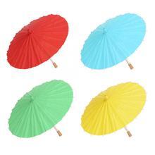 Зонты для древних танцев, бумажный зонтик, разноцветный зонтик в китайском стиле, бумажный зонтик для масла, Детские Картины сделай сам, непродуваемый дождевик