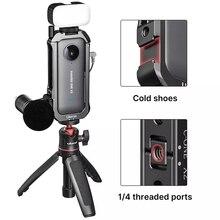 Ulanzi Instal 360 Một X2 Lồng Kim Loại Ốp Lưng Bảo Vệ Nhà Ở Khung Kéo Dài Giày Lạnh Cho Đèn LED Micro Vlog ốp Lưng