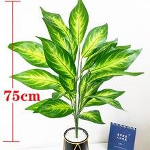 75cm 26 Blätter Tropical Baum Große Künstliche Pflanzen Zweige Gefälschte Monstera Kunststoff Magnolia Leafs Für Home Garten Hochzeit Decor