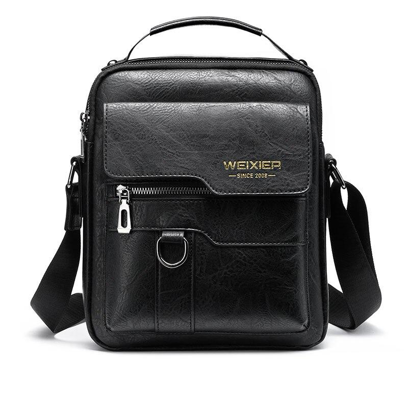 Men's Crossbody Bag Men Shoulder Bags Zippers Handbags Large Capacity Artificial Leather Bag For Male Messenger Tote Bags