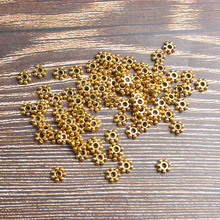 5mm 375pcs 6mm 215pcs  Golden snowflake Spacer DIY men and women bracelet necklace ankle Accessories wholesale