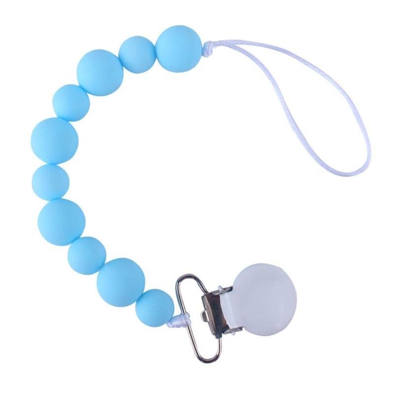 Chupeta de silicone artesanal correntes seguro bebê mordedor clipes titular corrente corb
