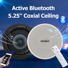 Home PA Audio Waterproof Active Bluetooth In Ceiling Speaker 5.25 Coxial Input Big Power 4 Channels Class D Amplifier Speakers